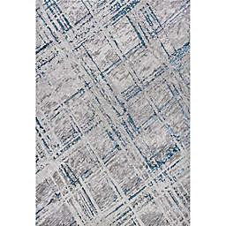 JONATHAN Y Slant Modern Abstract Area Rug in Grey/Blue