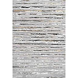 JONATHAN Y Batten Modern Stripe Area Rug in Grey/Black