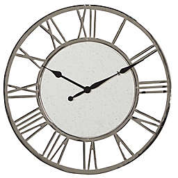 Ridge Road Décor 24-Inch Large Round Wall Clock