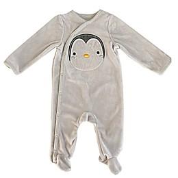 Sterling Baby Penguin Plush Footie in Grey