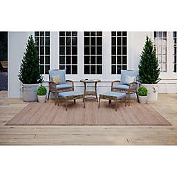 Bee & Willow™ Home Providence 5-Piece Metal and Wicker Patio Conversation Set in Brown