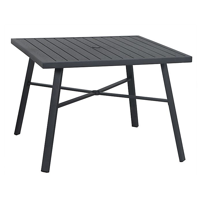 Alternate image 1 for W Home™ Stonington 4 Person Square All-Weather Steel Patio Dining Table