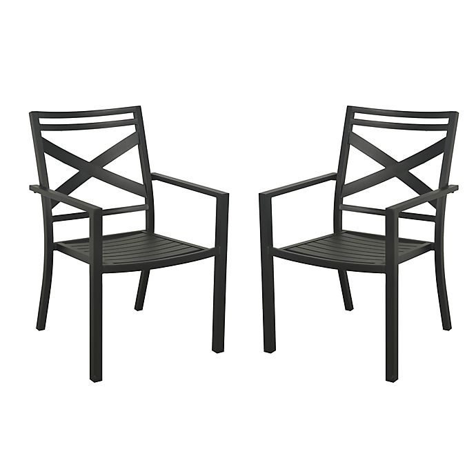 Alternate image 1 for W Home™ Stonington Steel Stacking Chairs (Set of 2)