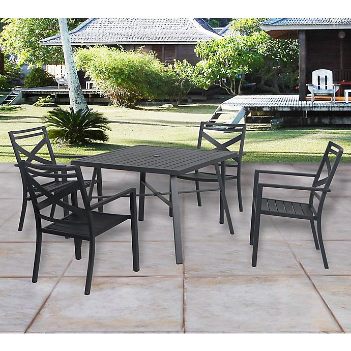 Alternate image 1 for W Home™ Stonington Stacking Chair in Black