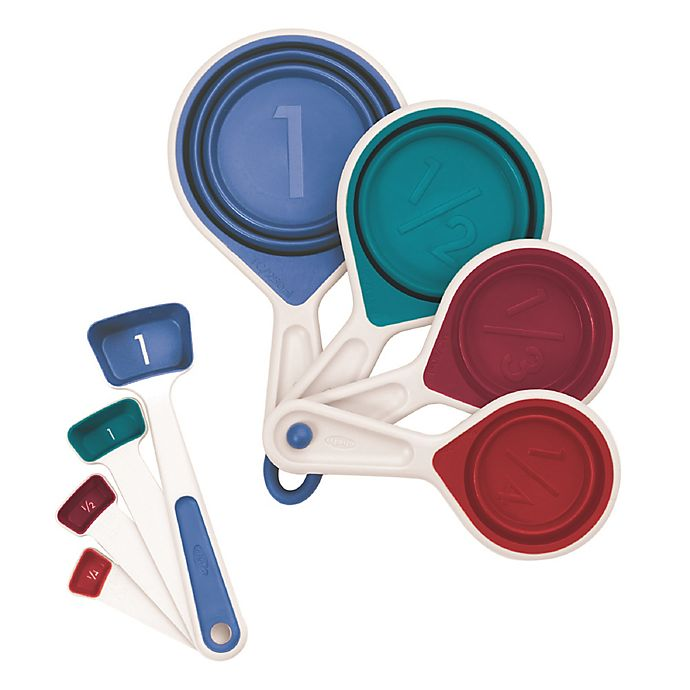 Alternate image 1 for Chef'n® sleekstor™ 8-Piece Collapsible Measuring Cups and Spoons Set