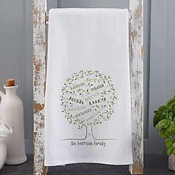 Family Tree of Life Flour Sack Kitchen Towel in White