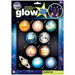The Original Glowstars® 10-Piece 3D Glow-in-the-Dark Planets Stickers