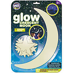 The Original Glowstars® 16-Piece 3D Glow-in-the-Dark Crescent Moon and Stars Stickers