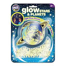 The Original Glowstars® 42-Piece 3D Glow-in-the-Dark Crescent Moon Stickers