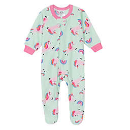 Gerber® Unicorn Fleece Footed Pajama in Aqua