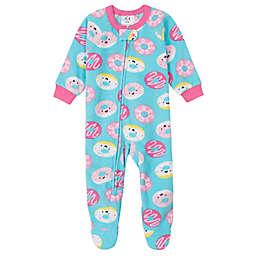Gerber® Donuts Fleece Footed Pajama in Teal