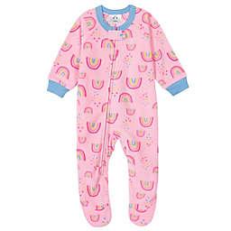 Gerber® Rainbow Fleece Footed Pajama in Pink