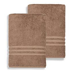 Linum Home Textiles Denzi Turkish Cotton Bath Sheets in Latte (Set of 2)