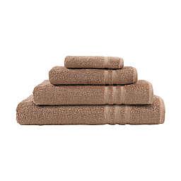 Linum Home Textiles Denzi 4-Piece Turkish Cotton Bath Towel Set in Latte