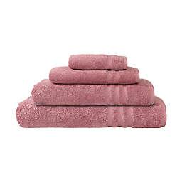 Linum Home Textiles Denzi 4-Piece Turkish Cotton Bath Towel Set in Tea Rose