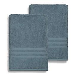 Linum Home Textiles Denzi Turkish Cotton Bath Sheets in Blue (Set of 2)