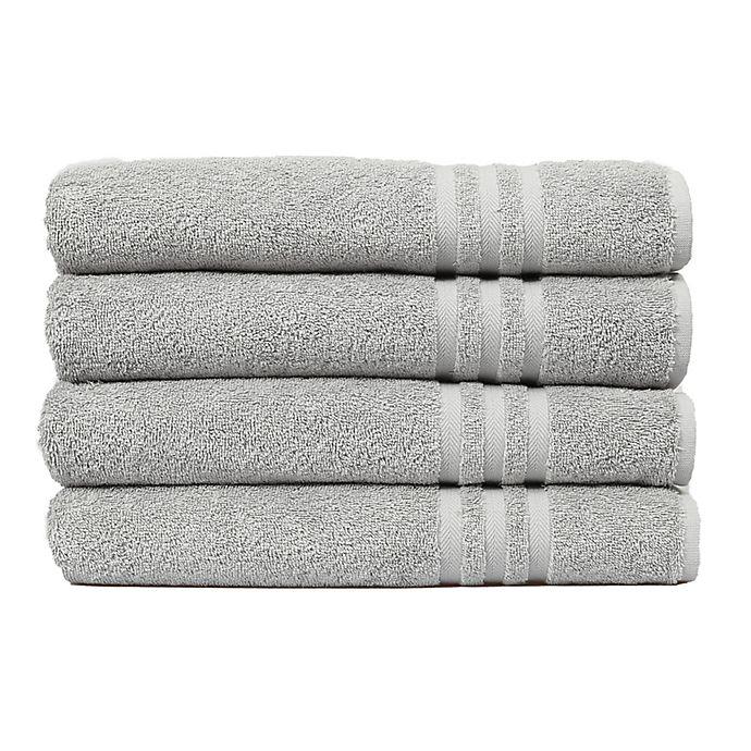 Alternate image 1 for Linum Home Textiles Denzi Turkish Cotton 4-Piece Bath Towel Set in Grey