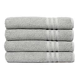 Linum Home Textiles Denzi Turkish Cotton 4-Piece Bath Towel Set in Grey