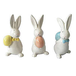 5.9-Inch Ceramic Easter Bunny Figurines (Set of 3)