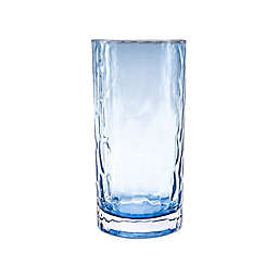 Bee & Willow™ Tall Textured Glass Tumbler in Blue