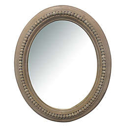 Bee & Willow™ Home 20-Inch x 24-Inch Oval Wall Mirror in Natural Wood