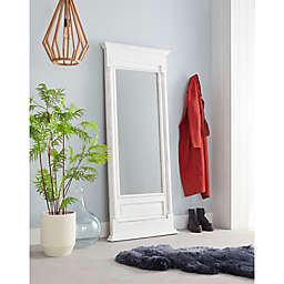Bee & Willow™ Home 72-Inch x 30-Inch Rectangular Leaner Mirror in White