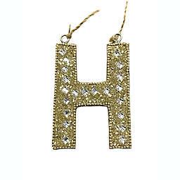 """H"" Letter Block Ornament"