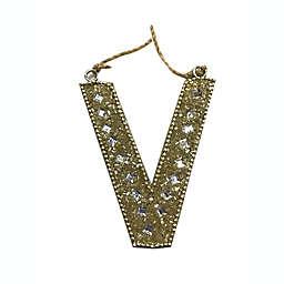 """""""V"""" Letter Block Ornament"""