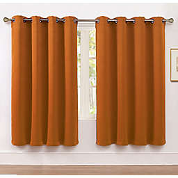 VCNY Home Neil 63-Inch Grommet Room Darkening Window Curtain Panel in Orange