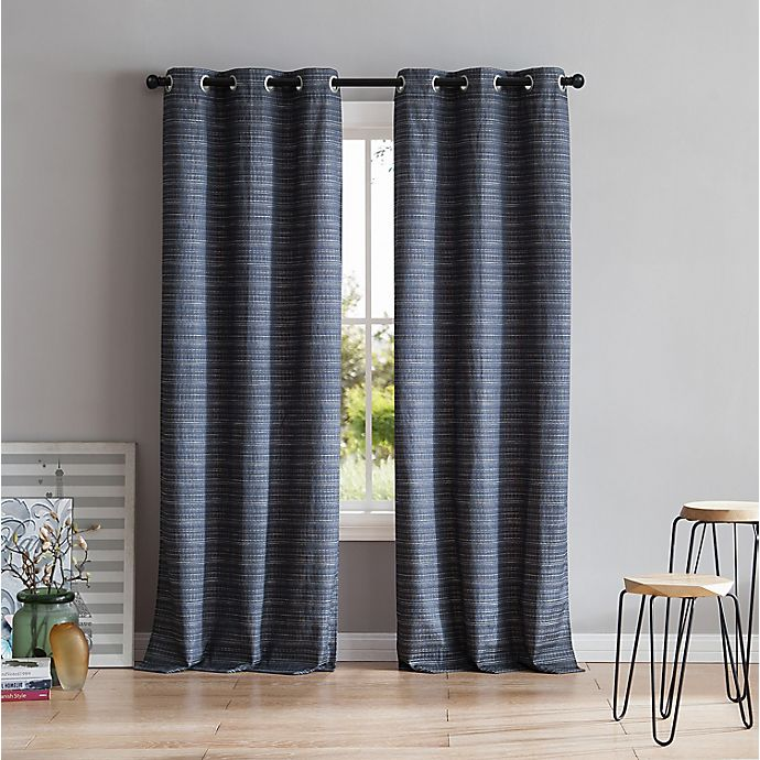 Alternate image 1 for VCNY Home Livingston 84-Inch Grommet Room Darkening Window Curtain Panel in Charcoal