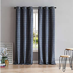 VCNY Home Livingston 84-Inch Grommet Room Darkening Window Curtain Panel in Charcoal