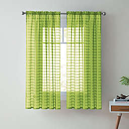 VCNY Home Lisa 63-Inch Sheer Rod Pocket Window Curtain Panel in Green