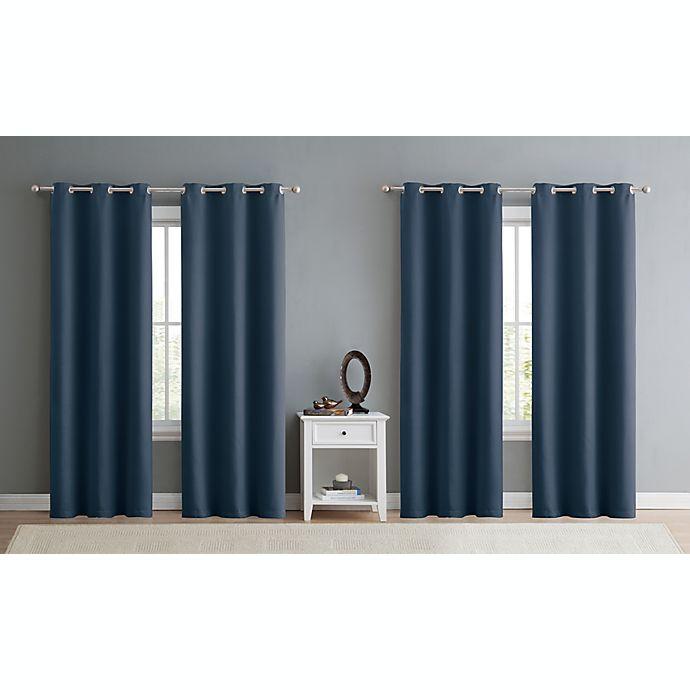 Alternate image 1 for VCNY Home Jordan 4-Pack Triple Weave 100% Blackout Window Curtain Panels