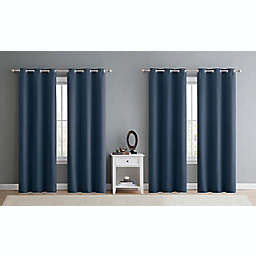 VCNY Home Jordan 4-Pack Triple Weave 100% Blackout Window Curtain Panels