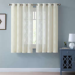 Better Homes  &  Gardens Clipped Triangle Grommet Curtain Panel in Ivory (Single)