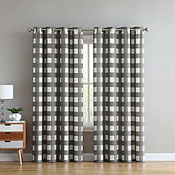 Better Homes & Gardens Jumbo Gingham Check Curtain Panel in Grey (Single)