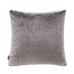 UGG® Dawson Faux Fur Square Throw Pillow in Chocolate