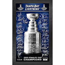 NHL Tampa Bay Lightning 2020 Stanley Cup Champions Signature Trophy Photo