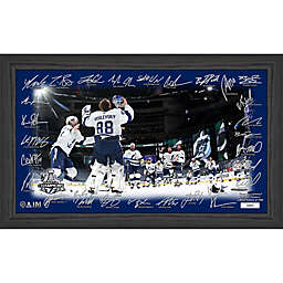 NHL Tampa Bay Lightning 2020 Stanley Cup Champions Celebration Signature Rink Photo