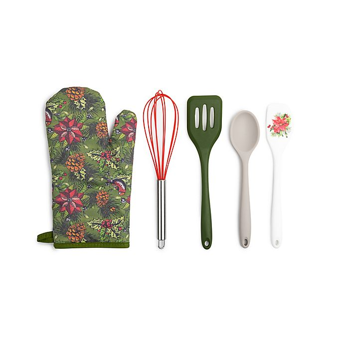 Alternate image 1 for Core Kitchen™ 5-Piece Holiday Baking Set in Green