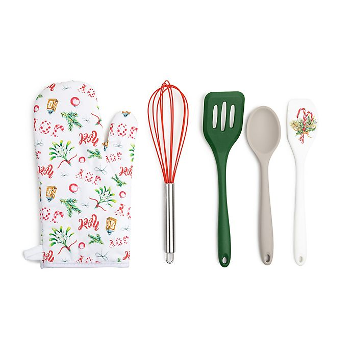 Alternate image 1 for Core Kitchen 5-Piece Holiday Joy Baking Tools Set in White