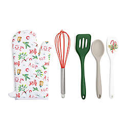 Core Kitchen 5-Piece Holiday Joy Baking Tools Set in White