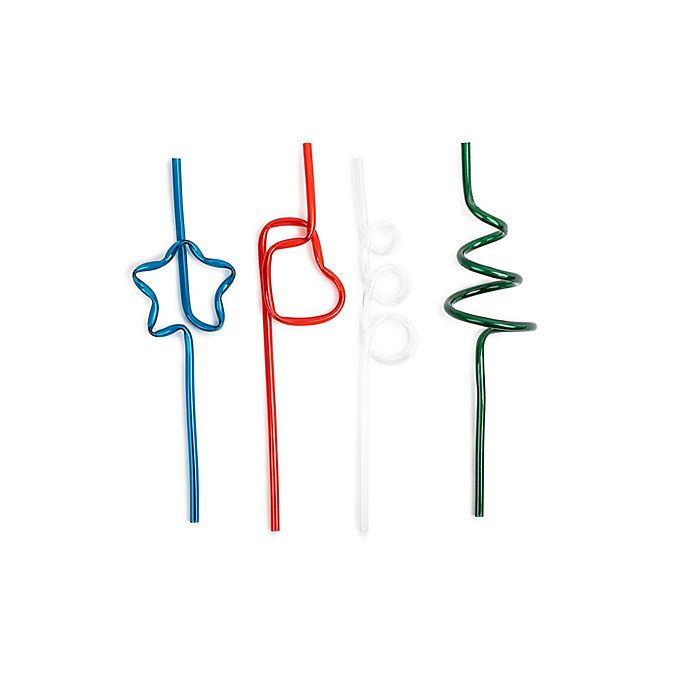Alternate image 1 for Core Kitchen 12-Piece Assorted Figural Holiday Straws Set