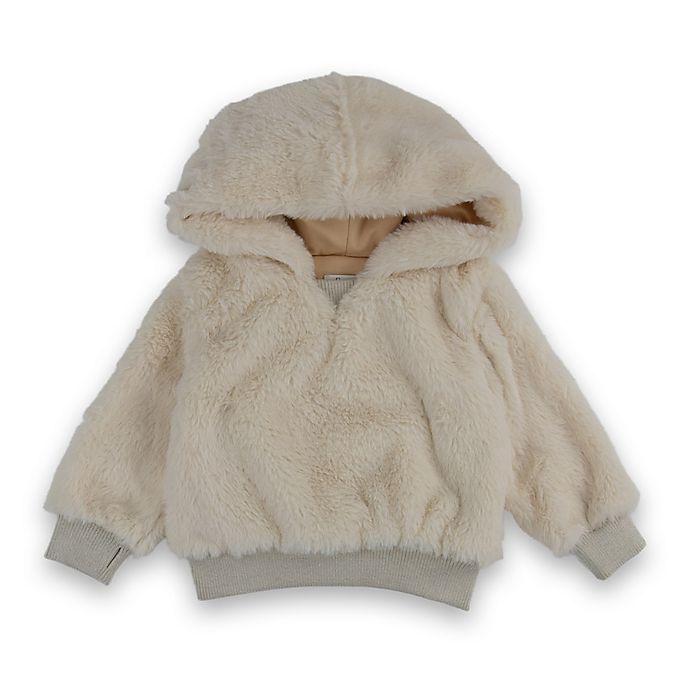 Alternate image 1 for Sovereign Code® Faux Fur Hooded Sweatshirt in Off White