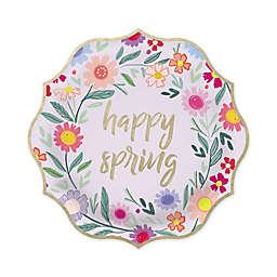 "Gartner Studios® 10-Count ""Happy Spring"" Foil Lunch Plates"