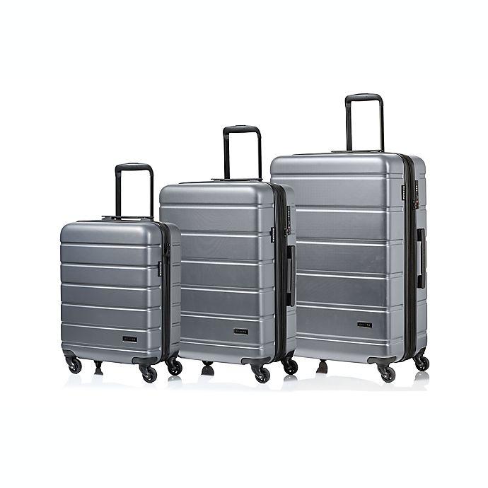 Alternate image 1 for CHAMPS Madison 3-Piece Hardside Spinner Luggage Set