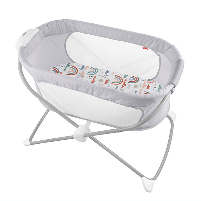 Alternate image 1 for Fisher-Price® Soothing View™ Rainbow Showers Bassinet