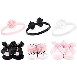 Hudson Baby® 6-Piece Ballet Headband and Socks Gift Set in Black