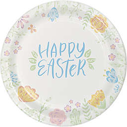 """Creative Converting™ 12-Count """"Happy Easter"""" Bunny Lunch Plates"""