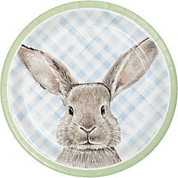 """Creative Converting™ 12-Count """"Happy Easter"""" Bunny Dinner Plates"""